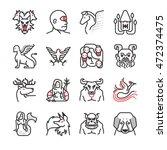 greek mythological creatures... | Shutterstock .eps vector #472374475
