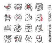 greek mythological creatures... | Shutterstock .eps vector #472374478