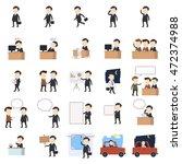 businessman vector illustration.... | Shutterstock .eps vector #472374988