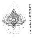 vector ornamental lotus flower  ... | Shutterstock .eps vector #472380472