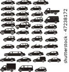 Stock vector set silhouette different types of the cars 47238172