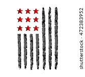 american flag grunge  symbol... | Shutterstock .eps vector #472383952