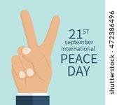 peace day  concept. september... | Shutterstock .eps vector #472386496