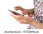 texting  browsing or calling on ... | Shutterstock . vector #472389616