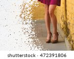 beautiful slender female legs... | Shutterstock . vector #472391806