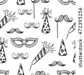cute birthday seamless pattern... | Shutterstock .eps vector #472395256