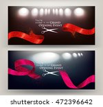 grand opening cards with ... | Shutterstock .eps vector #472396642