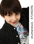 happy dark haired caucasian six ... | Shutterstock . vector #47240296