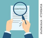 contract analyzing with... | Shutterstock .eps vector #472406416