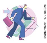 forward business development ... | Shutterstock .eps vector #472408228