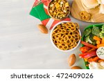 sliders with veggie tray on the ... | Shutterstock . vector #472409026