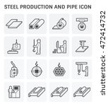 steel production and pipe... | Shutterstock .eps vector #472414732