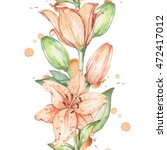 Lily 11. Watercolor Painting....