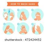 washing hands | Shutterstock .eps vector #472424452