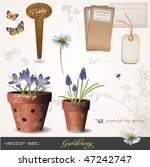 vector set  gardening   build...   Shutterstock .eps vector #47242747