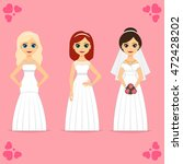 different brides in beautiful...   Shutterstock .eps vector #472428202