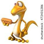 fun lizard | Shutterstock . vector #472431286