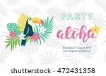 hawaiian party banner template... | Shutterstock .eps vector #472431358