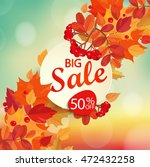 big sale   autumn background... | Shutterstock .eps vector #472432258