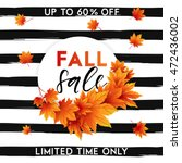 autumn sale flyer template with ... | Shutterstock .eps vector #472436002