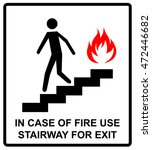 in case of fire use stairway... | Shutterstock .eps vector #472446682