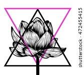 hand drawn lotus flower. t... | Shutterstock .eps vector #472455415