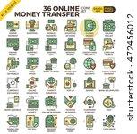 online money transfer payment... | Shutterstock .eps vector #472456012