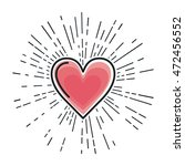 heart love isolated icon vector ... | Shutterstock .eps vector #472456552