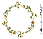 wreath floral decoration circle ... | Shutterstock .eps vector #472461652