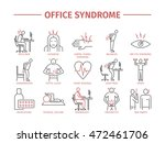 office syndrome infographic | Shutterstock .eps vector #472461706