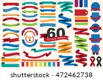 60 retro ribbons and labels... | Shutterstock .eps vector #472462738