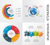4 steps vector infographic... | Shutterstock .eps vector #472463536