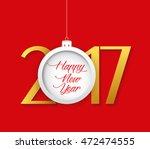 creative chinese new year 2017... | Shutterstock . vector #472474555