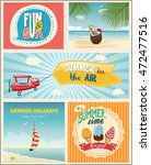 summer logo and labels design... | Shutterstock .eps vector #472477516