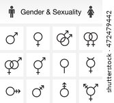 gender   sexuality types. line... | Shutterstock .eps vector #472479442