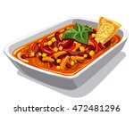 illustration of chilly spicy... | Shutterstock .eps vector #472481296