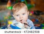 portrait of cute baby boy of 6... | Shutterstock . vector #472482508