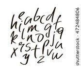 vector alphabet letters.black... | Shutterstock .eps vector #472484806