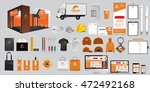 set of corporate identity and... | Shutterstock .eps vector #472492168