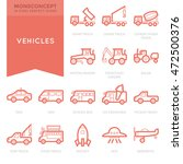 flat thin line icons set of... | Shutterstock .eps vector #472500376