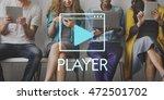 media audio player blog concept   Shutterstock . vector #472501702