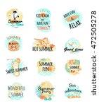 set of summer logo icons.... | Shutterstock .eps vector #472505278