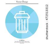 trashcan icon | Shutterstock .eps vector #472513312