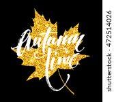 Autumn Hand Written Lettering....