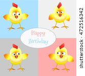 vector card happy birthday with ... | Shutterstock .eps vector #472516342