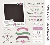 vintage scrapbook photo frame... | Shutterstock .eps vector #472517602