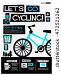 let's go cycling   flat style... | Shutterstock .eps vector #472521262