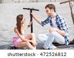 joyful friends talking | Shutterstock . vector #472526812