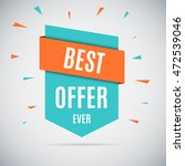 special offer sale tag discount ... | Shutterstock .eps vector #472539046