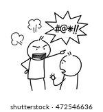 anger management doodle. a hand ... | Shutterstock .eps vector #472546636